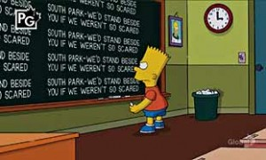 Bart Simpson Stands Up for South Park