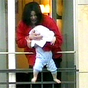 michale Jackson baby balcony