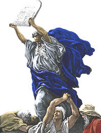 moses breaks the tablets